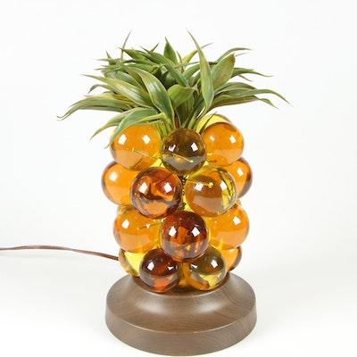 Lucite Pineapple Table Lamp, Mid Century
