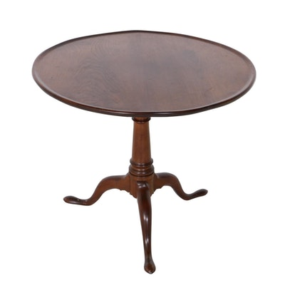 Queen Anne Style Mahogany Tilt-Top Pedestal Table, Early to Mid-20th Century