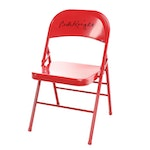 Bobby Knight Signed Red Metal Folding Chair  COA