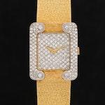 Bueche Girod 18K Gold 1.77 CTW Diamond Stem Wind Wristwatch