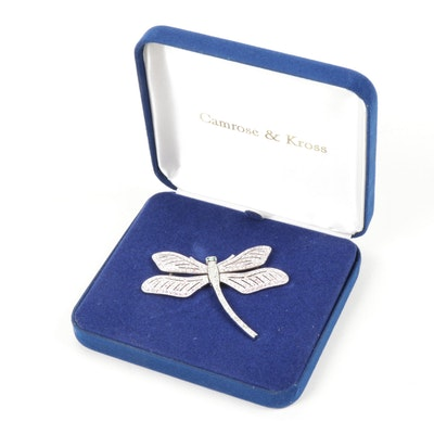 Camrose & Kross Jacqueline Kennedy Reproduction Dragonfly Brooch in Original Box