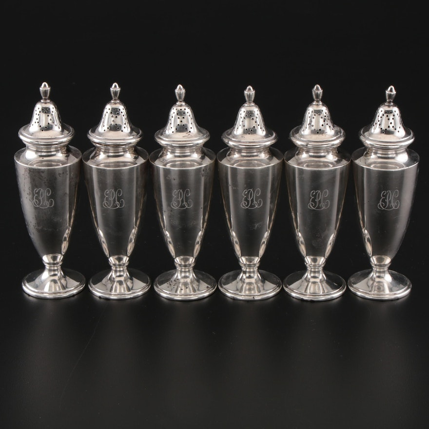 Tiffany & Co. Sterling Pepper Shakers, 1924-1947