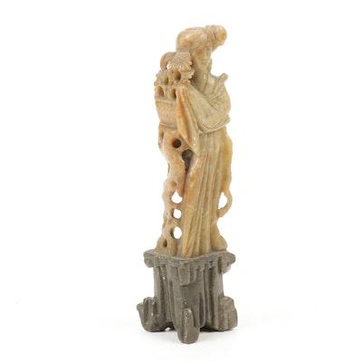 Chinese Shoushan Style Soapstone Figural Carving