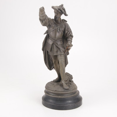 Spelter Conquistador Sculpture, Late 19th Century