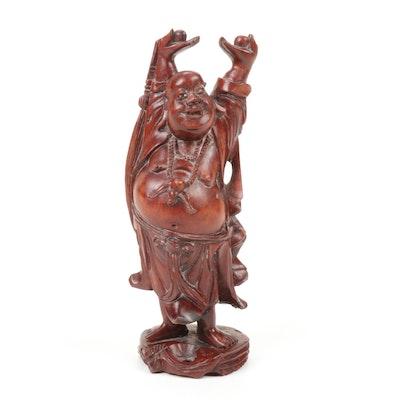 Carved Wood Chinese Budai Figurine