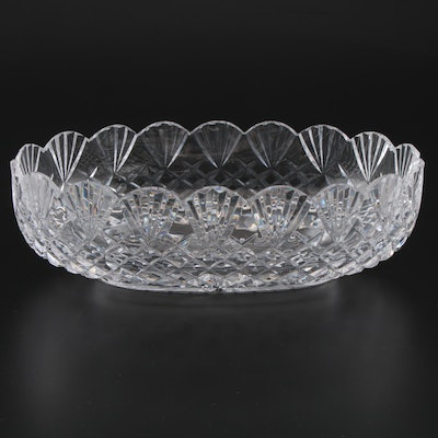 Waterford Crystal Centerpiece Bowl with Scalloped Edges, Late 20th Century