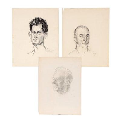 Mardee Hoff Foster Charcoal Portrait Studies