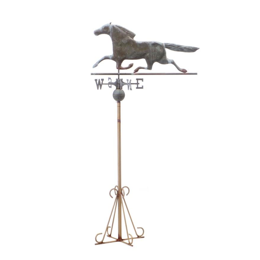 Horse Figure Garden Weathervane
