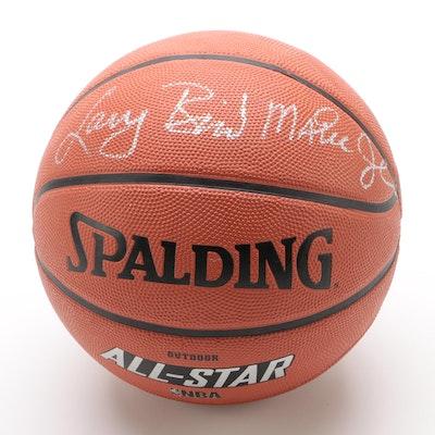 "Larry Bird and Magic Johnson Signed Spalding ""NBA All-Star"" Basketball"