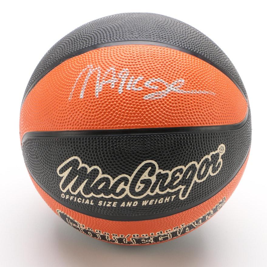 "Magic Johnson Signed MacGregor ""Collegiate"" Basketball"