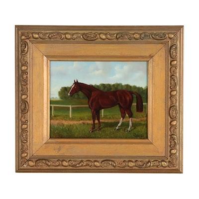 Vilmos Paksi Equine Portrait Oil Painting