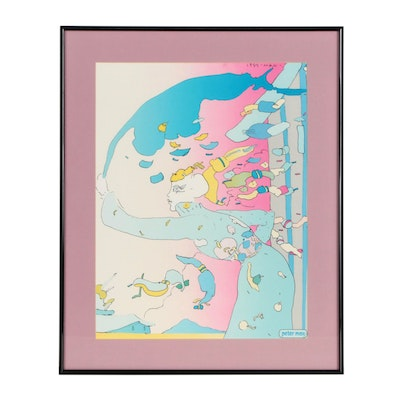 Psychedelic Offset Lithograph after Peter Max