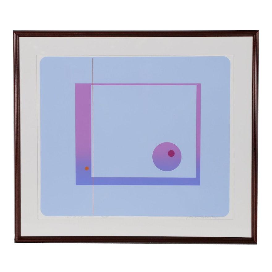 """Rudy Ayoroa Abstract Serigraph """"Voyager No. 3"""""""