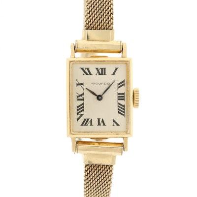 Movado 14K Yellow Gold Stem Wind Wristwatch