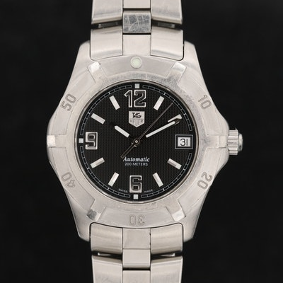 TAG Heuer 2000 Professional Stainless Steel Automatic Wristwatch