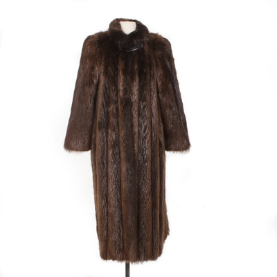 Beaver Fur Full-Length Coat by El-Mars
