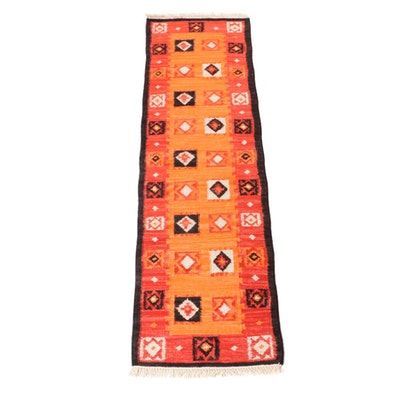 2'5 x 8'4 Handwoven Turkish Kilim Rug Runner