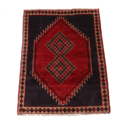 3'8 x 4'9 Hand-Knotted Persian Shiraz Rug, 1970s - 1980s