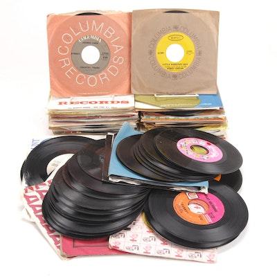 Paul Anka, Steely Dan, John Denver and Other 45 RPM Vinyl Records