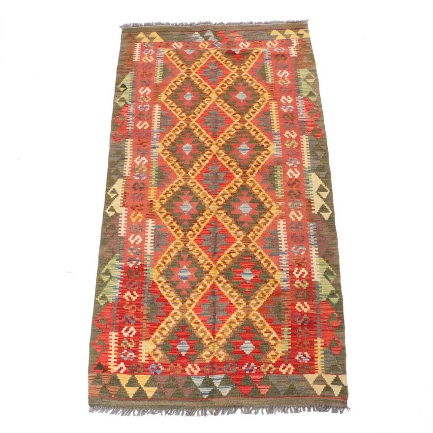 3'4 x 6'6 Handwoven Turkish Kilim Rug