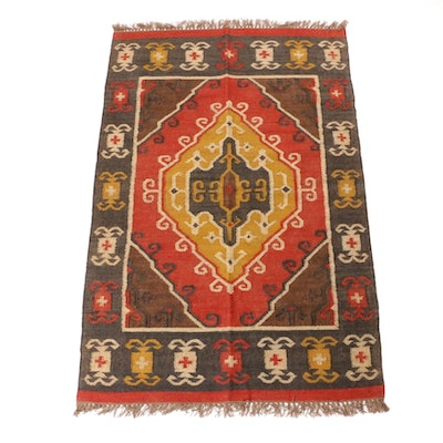 4' x 6'3 Handwoven Turkish Kilim Rug
