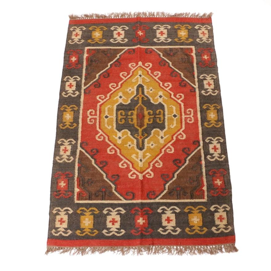 4' x 6'3 Handwoven Turkish Kilim Rug
