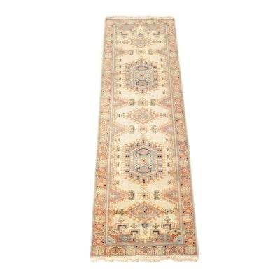 2'8 x 8'2 Hand-Knotted Persian Kazak Rug Runner
