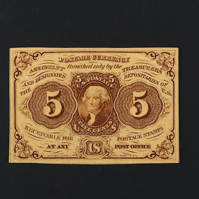1862 First Issue U.S. 5-Cents Fractional Currency Note