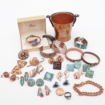 Vintage Renoir Matisse and More Copper Jewelry