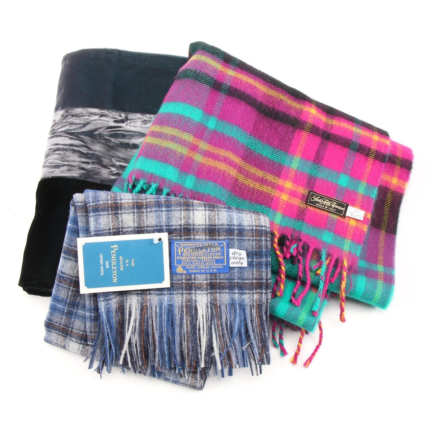 Pendleton Plaid Wool Scarf, Ditchfield + Aitchison and Saks Fifth Avenue Scarves