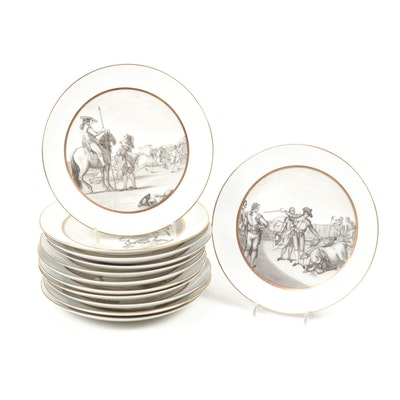 Bidasoa Spanish Corrida Porcelain Bullfighting Plates, 1950s