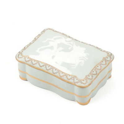 Tharaud Pâte-sur-Pâte Porcelain Limoges Box, Early 20th Century