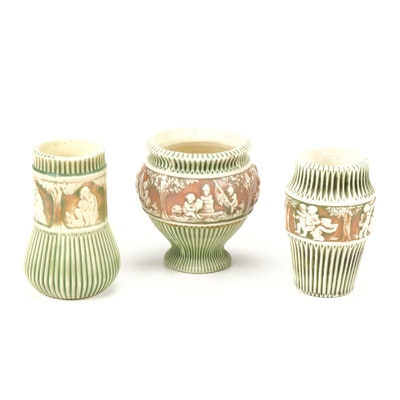 """Roseville Pottery """"Donatello"""" Vessels, Early 20th Century"""