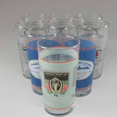 Libbey Churchill Downs Kentucky Derby Collector Mint Julep Glasses, 2004-2010