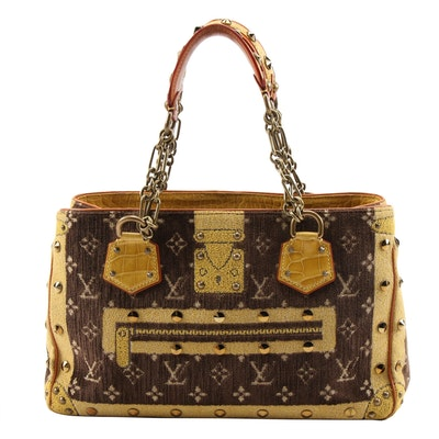 Louis Vuitton Limited Edition Le Fabuleux Bag in Monogram Trompe L'Oeil Velvet