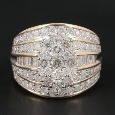 10K Yellow Gold 2.07 CTW Diamond Ring