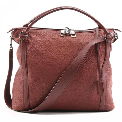 Louis Vuitton Ixia MM Bag in Monogram Cerise Antheia Lambskin Leather