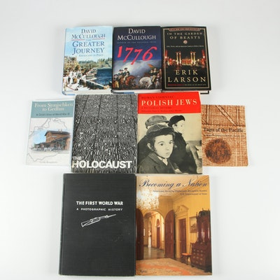 "History and War Books Including ""1776"" and ""The Greater Journey"" by McCullough"
