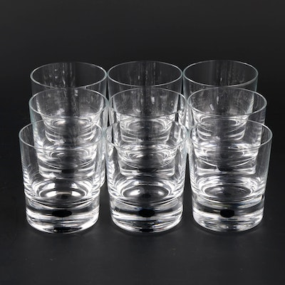 "Orrefors ""Intermezzo Blue"" Crystal Old Fashioned Glasses"