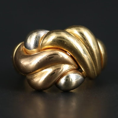 18K Yellow, White and Rose Gold Ring