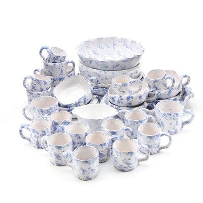 "Bybee Pottery ""Speckled"" Stoneware Dinnerware"