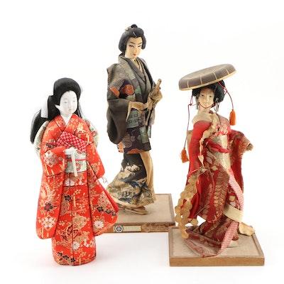 Japanese Kyugetsu Geisha Dolls, Vintage
