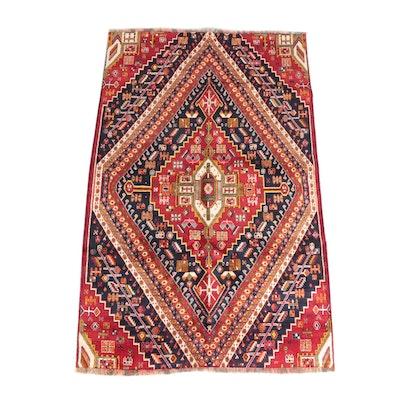 4'8 x 7'10 Hand-Knotted Anatolian Ladik Wool Rug