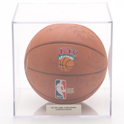 New York Knicks Signed Basketball, Early 1980s