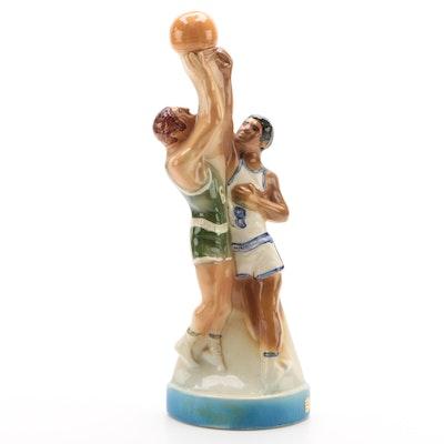 """Heritage China """"Ezra Brooks"""" Basketball Whiskey Decanter, 1974"""