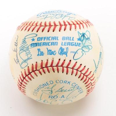 1983 New York Yankees Signed American League Baseball