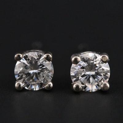 14K White Gold 0.36 CTW Diamond Stud Earrings