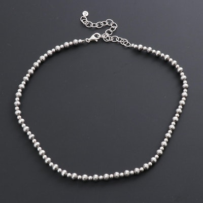 Carolyn Pollack Relios Sterling Silver Beaded Necklace