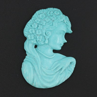 Imitation Turquoise Figural Carving