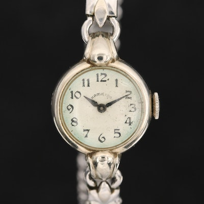 14K White Gold Hamilton Wristwatch, Circa 1947